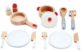 Hape Wooden Dining Doll's Set - 13 Pieces