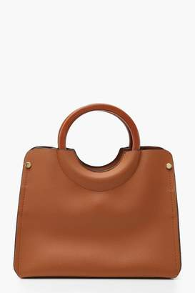 boohoo Wooden Handle Small Tote