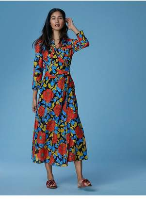 Diane von Furstenberg Collared Wrap Dress Cover-Up