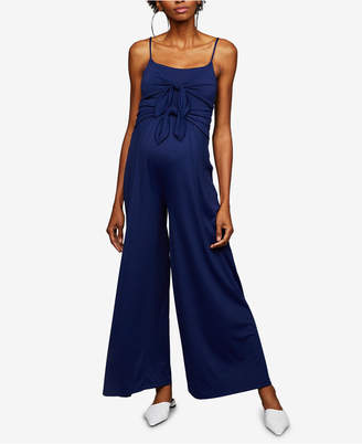 A Pea in the Pod Maternity Wide-Leg Jumpsuit
