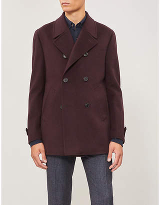 Corneliani Double-breasted wool peacoat