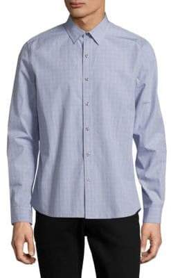 Michael Bastian Mixed Print Sport Shirt