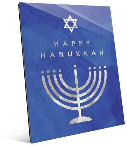 Click Wall Art 'Happy Hanukkah - Menorah' Graphic Art