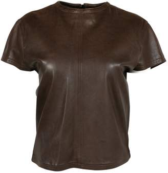 Gianni Versace Brown Leather Tops