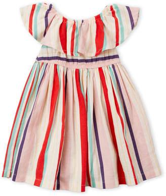 Margherita Missoni (Newborn/Infant Girls) Stripe Ruffle Dress