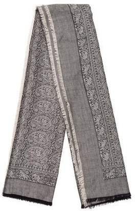 Bottega Veneta Silk Blend Printed Scarf