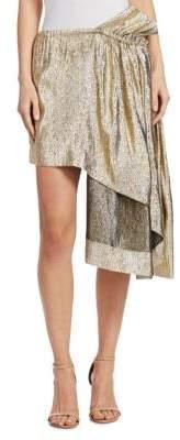 Stella McCartney Metallic Asymmetric Skirt