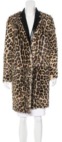 CelineCéline Ponyhair Leopard Print Coat
