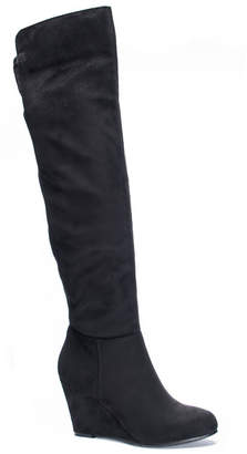 Chinese Laundry Unforgettable Over the Knee Wedge Boots Women Shoes