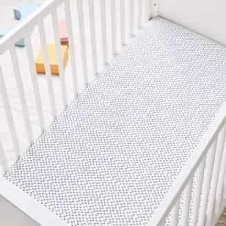 west elm Organic Harmony Crib Fitted Sheet - Nightshade