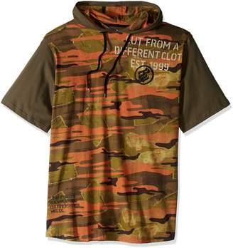 Rocawear Men's Big and Tall Regiment Short Sleeve Hoody