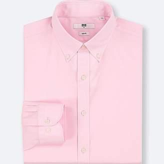 Uniqlo Men's Easy Care Dobby Slim-fit Long-sleeve Shirt