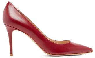 Gianvito Rossi Gianvito 85 Leather Pumps - Womens - Burgundy