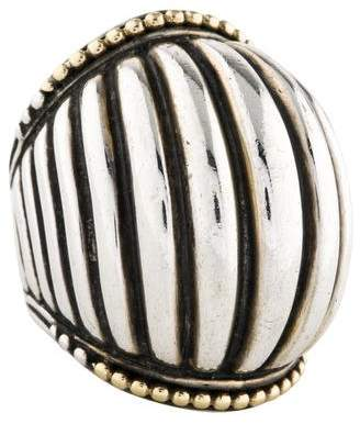 Lagos Two-Tone Fluted Dome Ring