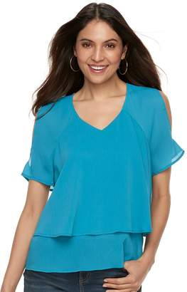 Juicy Couture Women's Layered Cold-Shoulder Top