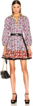 Valentino Popeline Spring Garden Dress in Multi | FWRD