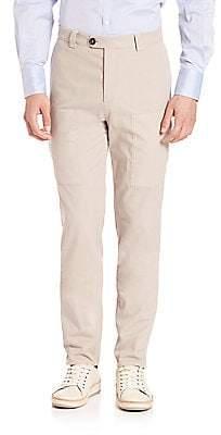 Brunello Cucinelli Men's Para New Cargo Pocket Pants