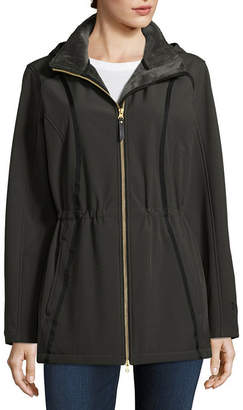 Free Country Hooded Water Resistant Lightweight Softshell Jacket