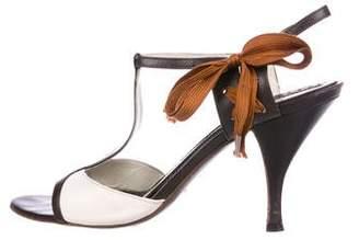 Saint Laurent Leather T-Strap Sandals