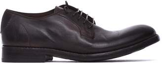 Barracuda Lace-up Shoes In Black Vintage Effect Leather