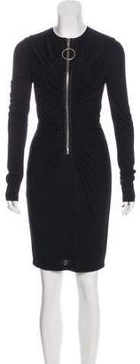 Givenchy Draped Knee-Length Dress