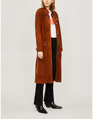Free People Larsen suede trench coat