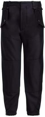 Chloé Mid Rise Cargo Trousers - Womens - Navy