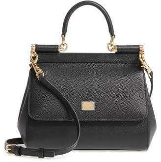 Dolce & Gabbana Small Miss Sicily Leather Satchel