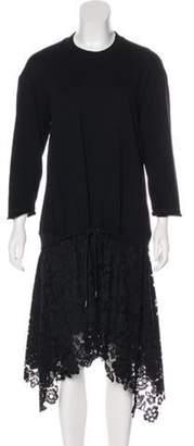 3.1 Phillip Lim Sweatshirt Midi Dress w/ Tags Black Sweatshirt Midi Dress w/ Tags