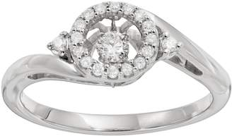 Brilliance+ Brilliance In Motion Brilliance in Motion 1/5 Carat T.W. Diamond Sterling Silver Halo Ring