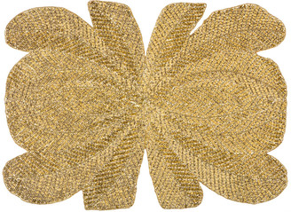 Nomi K Peacock Hand-Beaded Placemat, Gold