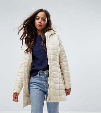 Vero Moda Petite Padded Parka With Faux Fur Hood