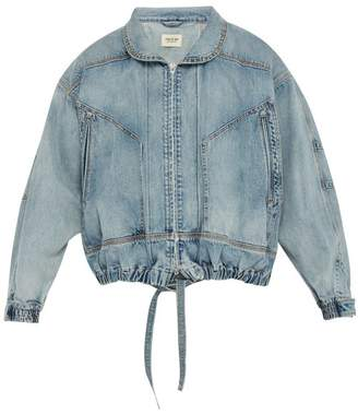 Fear Of God Panelled Denim Jacket - Mens - Light Blue