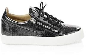 Giuseppe Zanotti Men's Glitter Patent Leather Sneakers