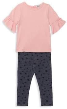 Splendid Baby Girl's& Little Girl's Two-Piece Bell Top& Star Print Leggings Set - Antique Pink - Size 3-6 Months