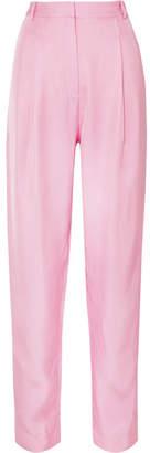 Tibi Satin-twill Tapered Pants - Baby pink