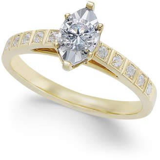 Macy's Diamond Miracle-Plate Marquise Shape Engagement Ring (3/8 ct. t.w.) in 14k Gold