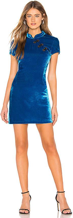 DE LA VALI Velvet Dress