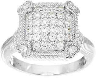 Judith Ripka Sterling or 14K Clad DiamoniquePave Ring