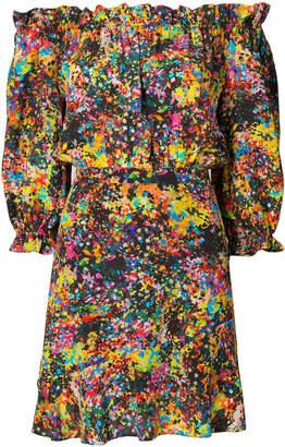 Saloni floral off shoulder dress