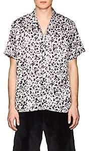 Stampd Men's Leopard Print Charmeuse Camp Shirt