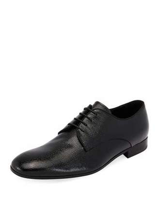 Giorgio Armani Vernice Olona Textured Leather Oxford Shoe
