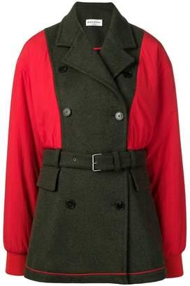 Sonia Rykiel colour block hybrid coat