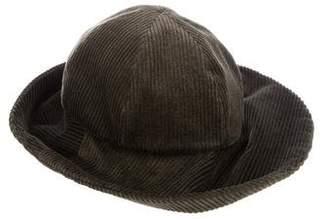 Patricia Underwood Corduroy Wide Brim Hat