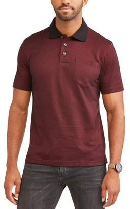 George Men's Short Sleeve Pattern Jersey Polo, up to Size 5XL