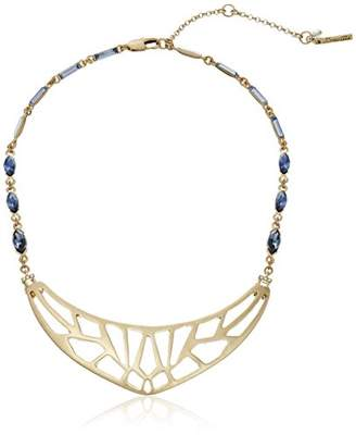 """Kenneth Cole New York Rays"""" Geometric Cut-Out Faceted Stone Necklace"""