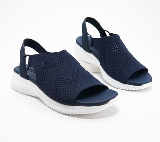 Skechers Engineered Knit Sling Back Sandals - Ultra Flex