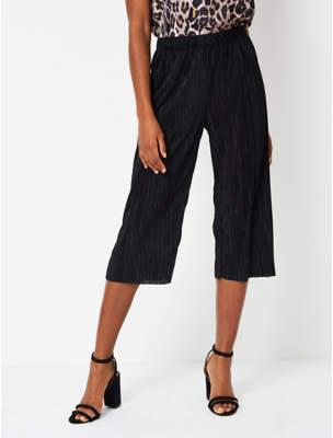 Black Plisse Culottes