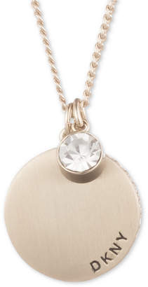 DKNY Disc & Crystal Pendant Necklace, Created for Macy's