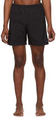 Noah NYC Black Nylon Swim Shorts